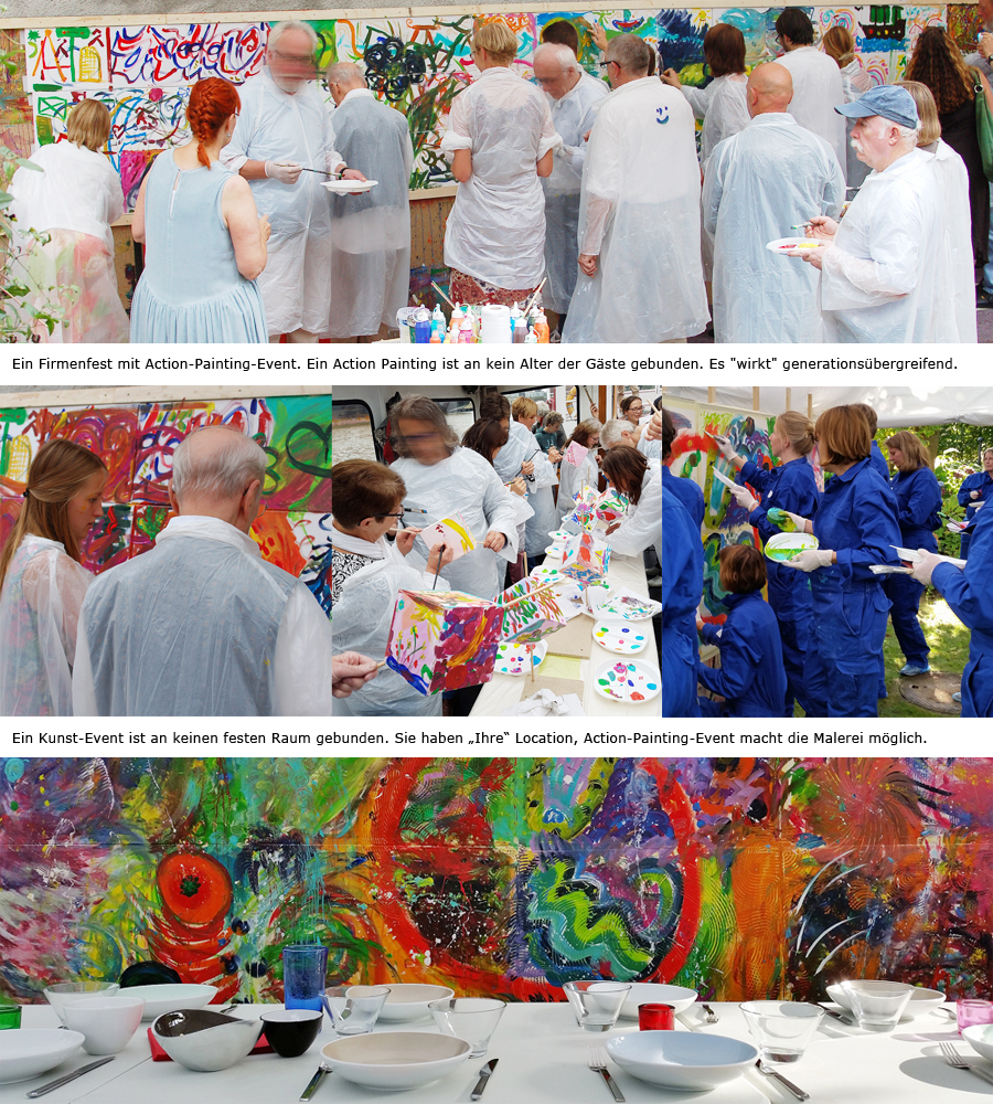 Firmenfest mit Action Painting