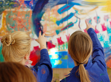 Kundenbinung mit Action Painting